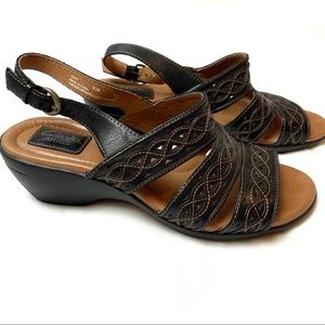 Clarks Artisan Leather Slingback Sandals 9.5M